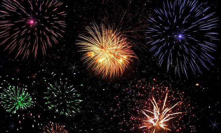 vuurwerkshow per gemeente